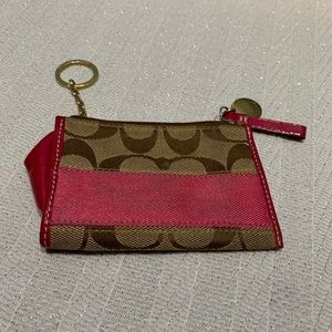 Coach Pink Change Purse